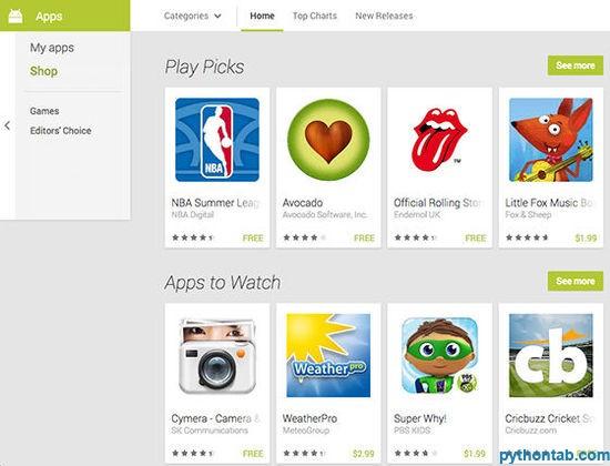 谷歌 Google Play 网页版更新或将支持谷歌眼镜